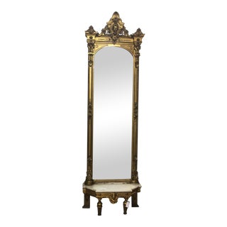 Antique French Empire Gilt Pier Mirror