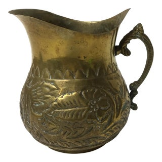 Antique Brass Repouseé Pitcher