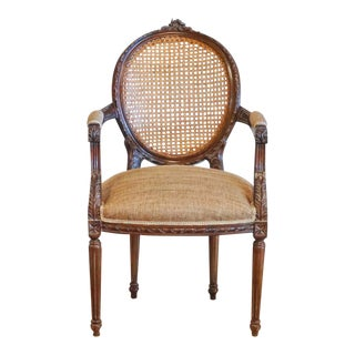 French Style Caned Arm Chair