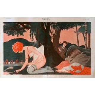 "Géo Gaumet 1920 Le Sourire ""Lost Golf Ball"" Print"