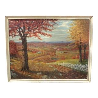 Vintage Signed Oil Painting Landscape