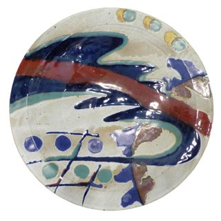 1970s Mid-Century Modern Ceramic Charger Plate
