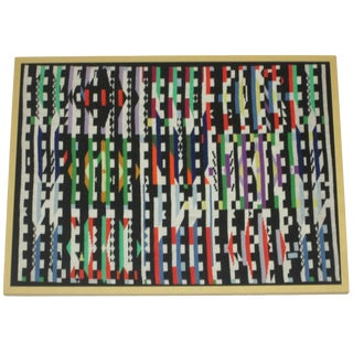 Agam-Style Tapestry in Frame