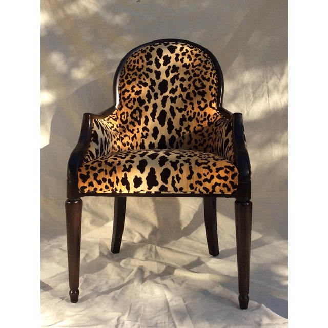 Velvet Animal Print Accent Chair Chairish