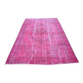 Pink Turkish Oushak Rug - 5′8″ × 8′7″