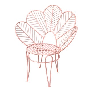 Pink Iron Flower Chair