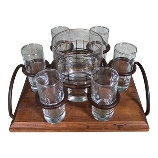 Shot Glasses & Holding Tray - Set of 7