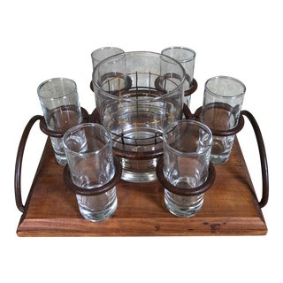 6 Shot Glasses & Holding Tray