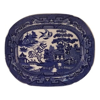 Allertons Blue Willow Ware Oval Platter