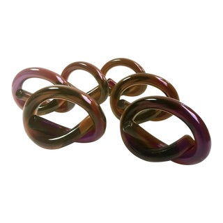 Maroon Lucite Napkin Rings - Set of 6