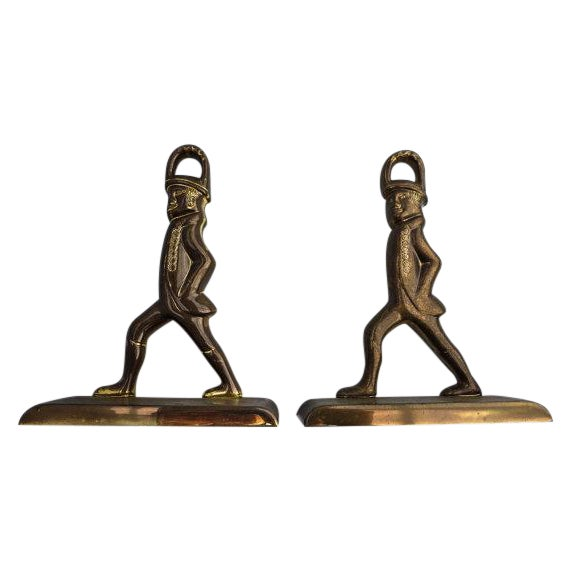 Solid Brass French Officer's Bookends - A Pair - Image 1 of 6
