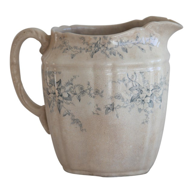 Image of Antique English Transferware Pitcher