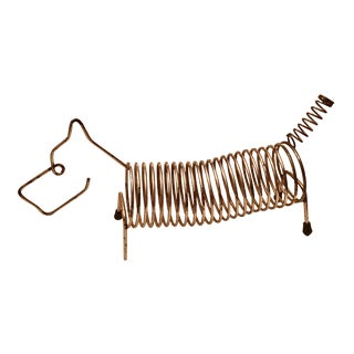 Mid-Century Metal Dog Letter Holder