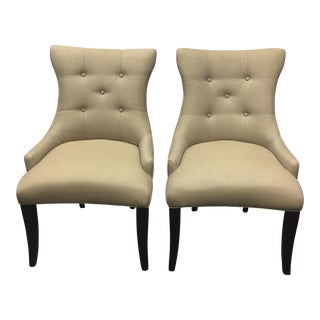 Contemporary Tufted Chairs - A Pair