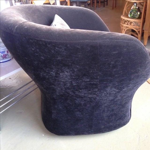 Image of Velvet Barrel Swivel Chairs - Pair