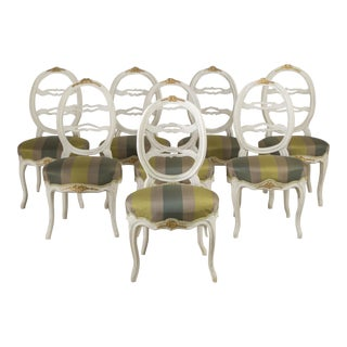 Harlequin Set of Eight Swedish Dining Chairs, circa 1790