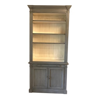 "Kingsbridge Collection ""New Classic"" Bookshelf Cabinet - Light Grey"