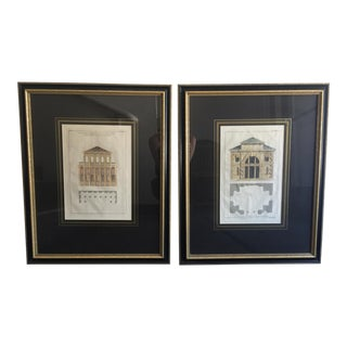 Framed Architecture Sketches - A Pair