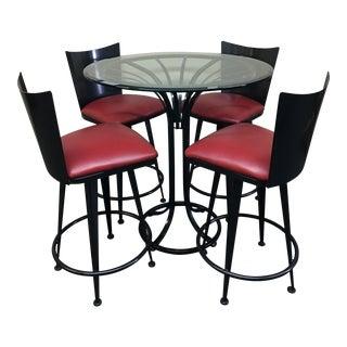 Bar Table & Swivel Bar Stools Set