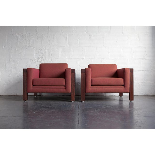 Milo Baughman Thayer Coggin Club Chairs - Pair - Image 4 of 5