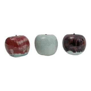 Unique Hand Made Stoneware Apples by Young Sook Pahk