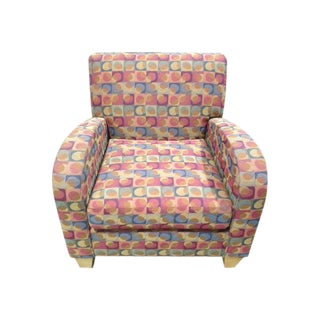 Multi-Colored Hickory Lounge Chair