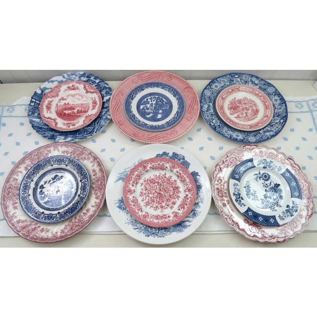 Mismatched Ironstone China Set, Service for 6 - Image 7 of 11