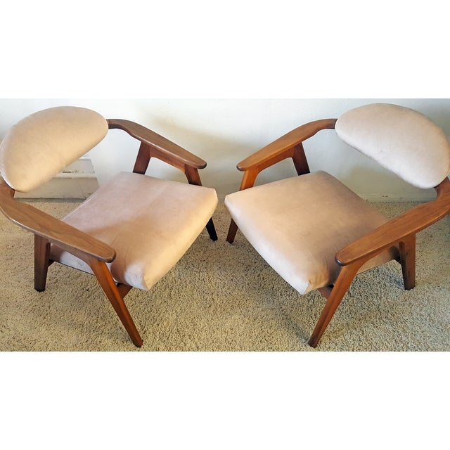 Image of Adrian Pearsall Craft Captain Chairs - Pair