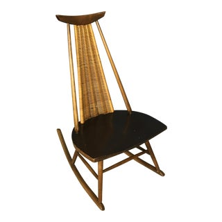Ilmari Tapiovaara Dr. No Wicker Rocking Chair