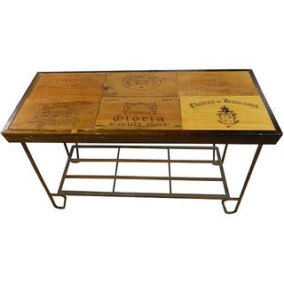 Rustic French Wine Panel Table/ Bar