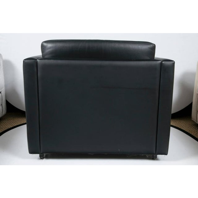Pfister Lounge Chair in Black Leather - Image 7 of 7