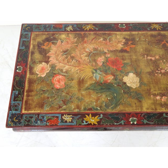 Chinese Paint Decorated Coffee Table - Image 2 of 3