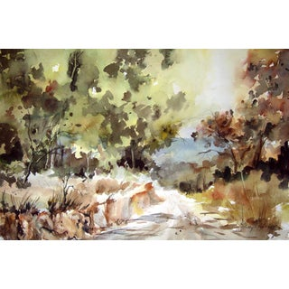 """""""Country Road"""" by Polly Erzinger Watercolor"""