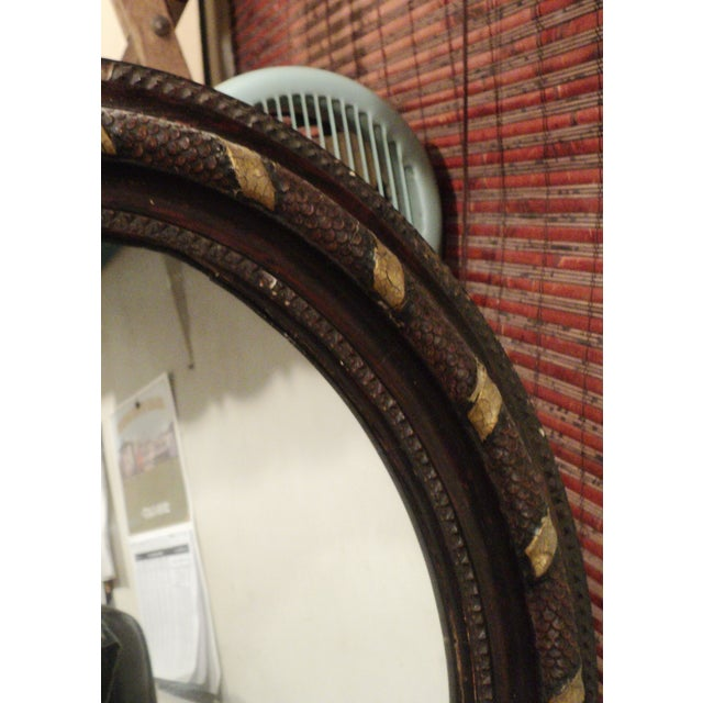 Antique Oval Hanging Mirror - Image 8 of 11