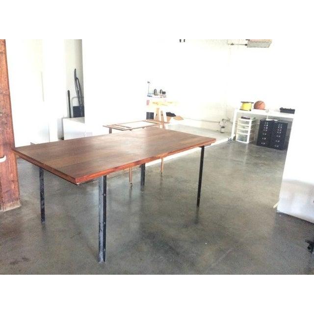 West Elm Wood & Metal Industrial Dining Table - Image 4 of 6