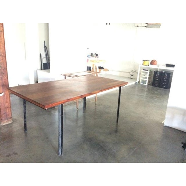 Image of West Elm Wood & Metal Industrial Dining Table
