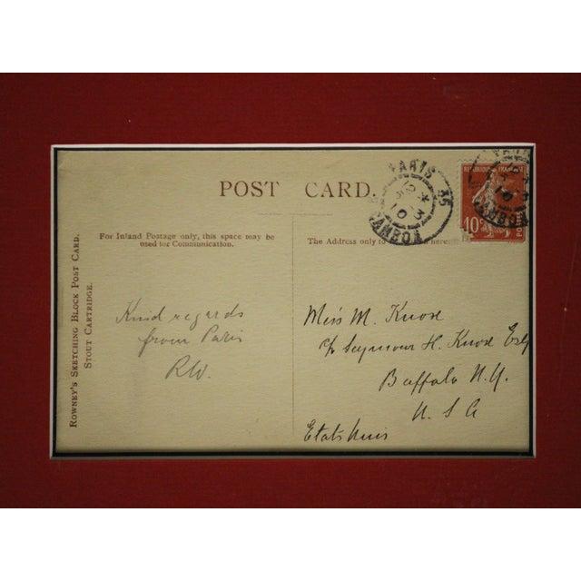Image of Set of 4 Framed Postcard Pen & Ink Drawings