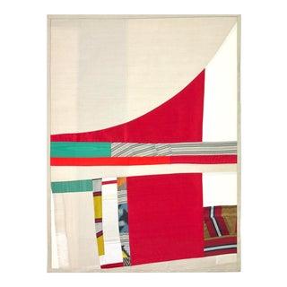 Shifting Vision #5, 2017 Pieced vintage silk by Debra Smith.