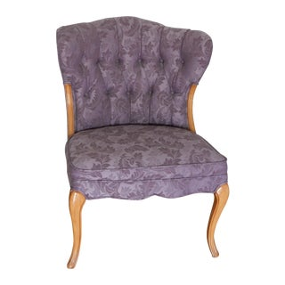 Vintage French Style Purple Accent Chair