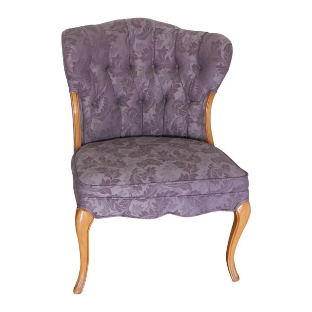 Vintage French Style Purple Accent Chair Chairish