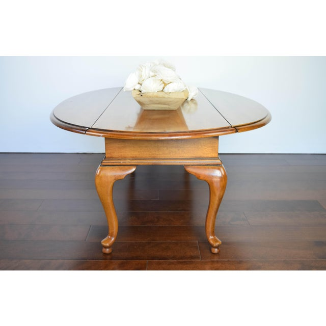 Queen Anne Oval Coffee Table - Image 4 of 11
