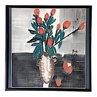 Framed Asian Still Life Painting