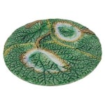 Image of Antique English Majolica Begonia Leaf Plate