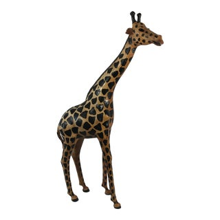 Large Leather Giraffe