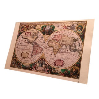 Vintage Mercator Map Print