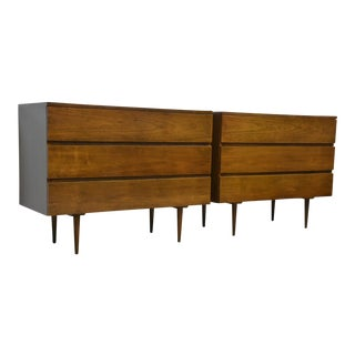 Mid-Century Modern Walnut Chests - A Pair