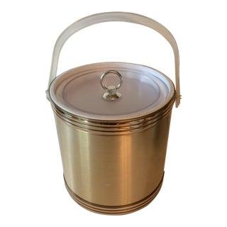 Vintage Hollywood Regency Gold & White Ice Bucket