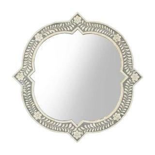 Floral Bone Inlay Mirror