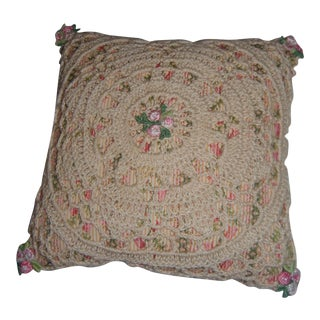 Antique Decorative Crocheted Pin Cushion