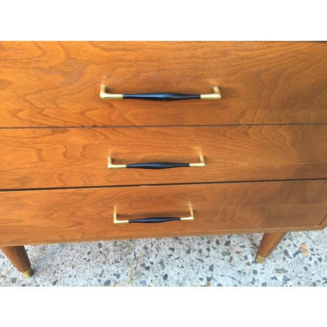 Mid-Century Modern Three Drawer Walnut Dresser - Image 5 of 8